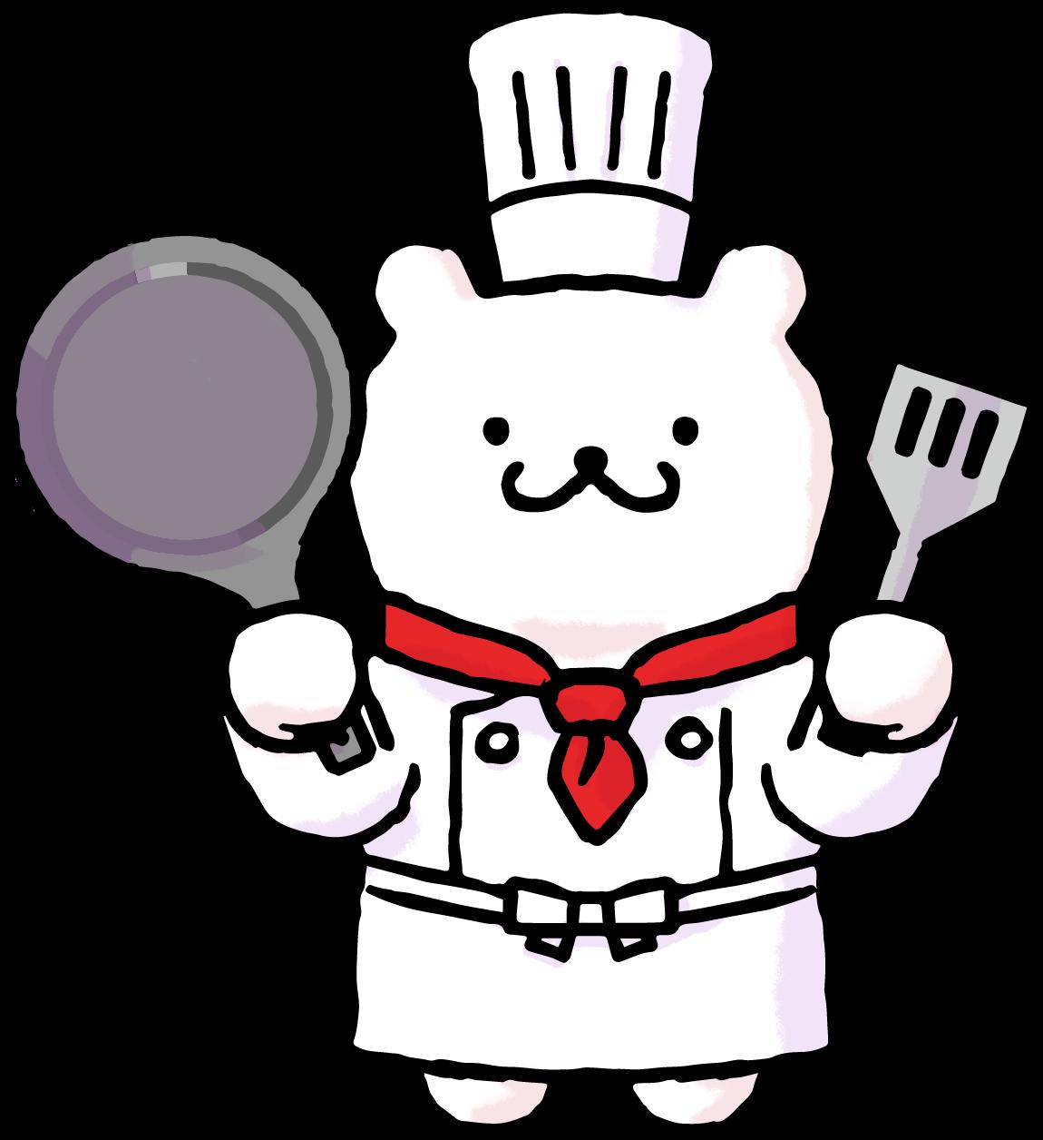 コックさんのイラスト(シェフ、調理スタッフ、調理師さん) | かわいい