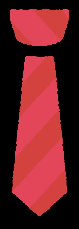 ネクタイのイラスト・赤と青