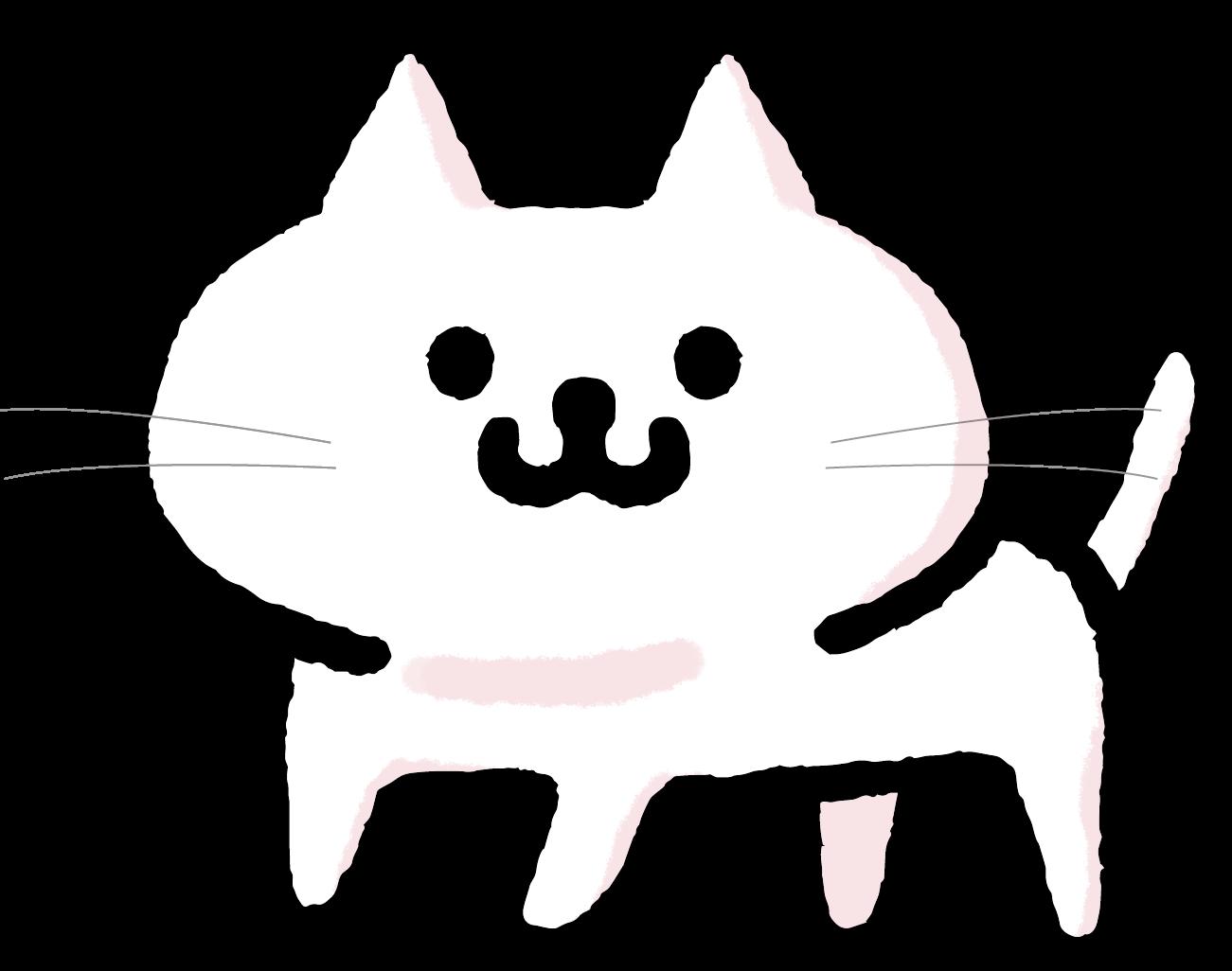 白猫のイラスト | かわいい無料イラスト素材