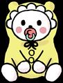 赤ちゃんのお座りポーズの無料イラスト