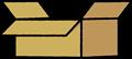 段ボールの空箱のイラスト素材