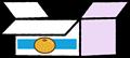 ミカンの空箱のイラスト素材