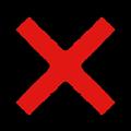 赤色の×マークイラスト素材透過png