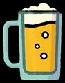 ビールジョッキに入った生ビールの透過イラスト素材