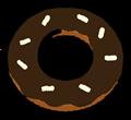 チョコレートコーティングドーナツイラスト素材透過png