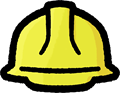 黄色の安全ヘルメットのイラスト素材透過png