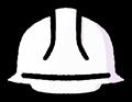 白色の安全ヘルメットのイラスト素材透過png