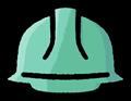 青色系の安全ヘルメットのイラスト素材透過png