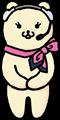 ピンクのスカーフのカスタマーサービス電話オペレーターのイラスト素材透過png