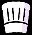 コック帽子のイラスト素材
