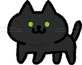 かわいい黒猫のイラスト素材透過png