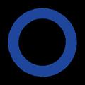 青色の○マークイラスト素材透過png