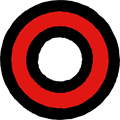 赤色の○マークイラスト素材透過png