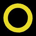 黄色の○マークイラスト素材透過png