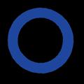 青色の○マーク立体影付きイラスト素材透過png