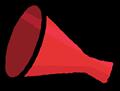 赤色のメガホンイラスト素材透過png