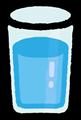 コップに入った水の透過パーツイラスト素材