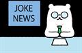 ジョークニュースを伝えるキャスターイラスト素材