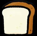 食パン一枚のイラスト素材透過png
