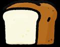 食パン一斤イラスト素材透過png