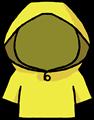 黄色のレインコートのイラスト素材