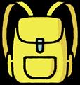 黄色のリュックサックイラスト素材