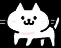 かわいい白猫のイラスト素材透過png