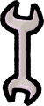 工具のスパナのイラスト素材透過png