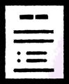 1枚の書類のイラスト素材透過png
