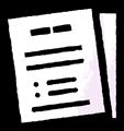 2枚の書類のイラスト素材透過png