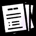複数枚・沢山の書類のイラスト素材透過png