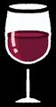 赤ワインのグラスのイラスト素材透過png