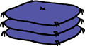 座布団3枚のイラスト素材