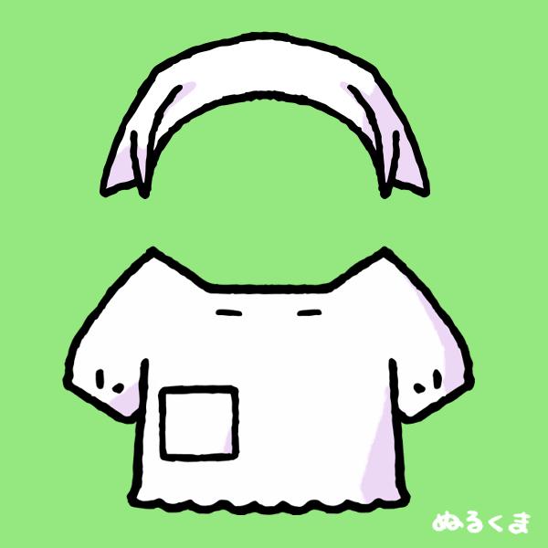 三角巾と割烹着のイラスト
