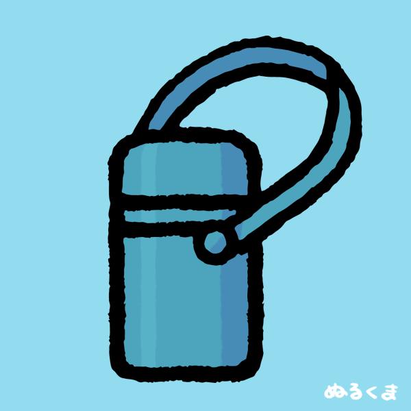 水色の水筒のイラスト素材