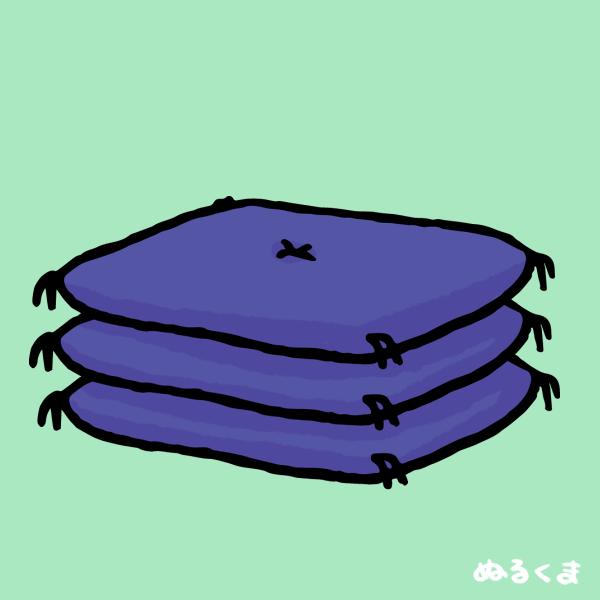 座布団のイラスト素材