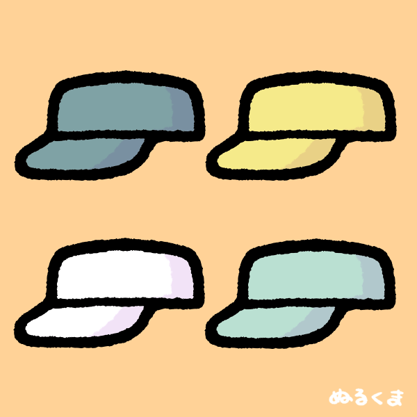 シンプルかわいい作業帽子・ワークキャップのフリーイラスト素材